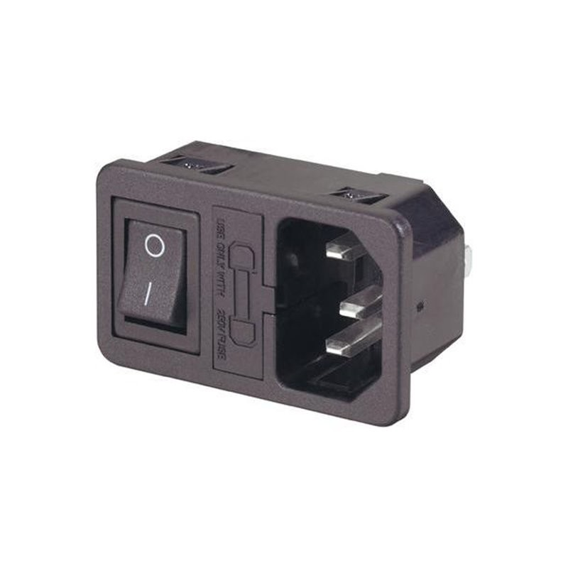AC Power Socket, with switch and fuse