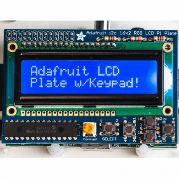 Adafruit Blue&White 16x2 LCD+Keypad Kit
