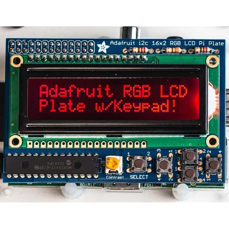 Adafruit RGB Negative 16x2 LCD+Keypad Kit