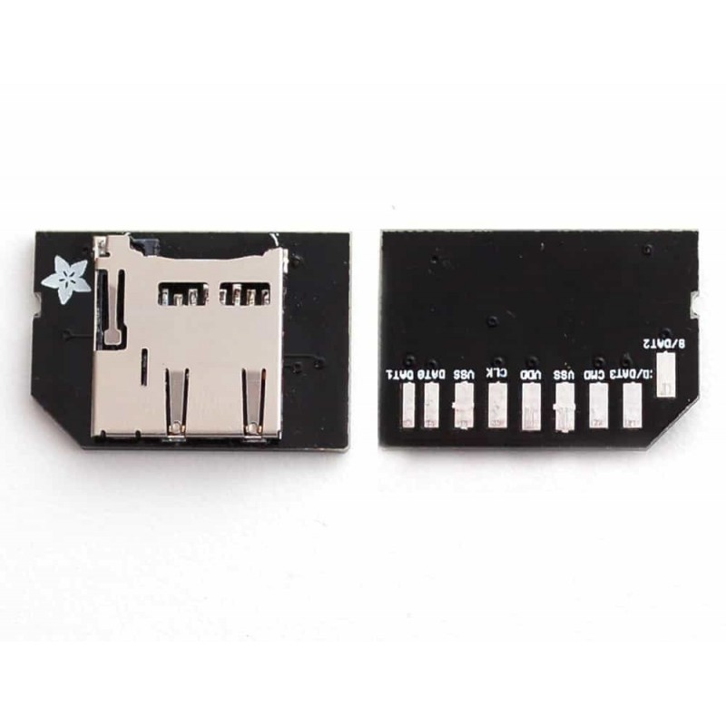 Low-profile microSD card adapter