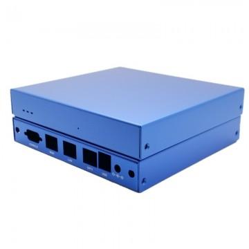 Blue Indoor Enclosure for APU/ALIX - 3 LAN