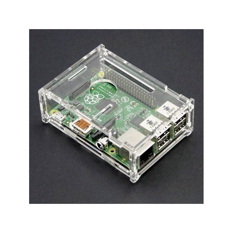 Raspberry PI 2/3/ B+  ENCLOSURE - Transparent