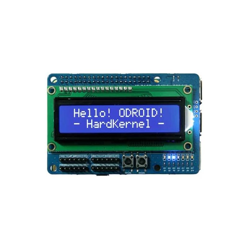 16x2 LCD + IO Shield