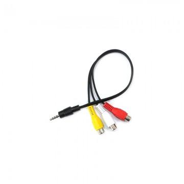 3.5mm Male Plug to 3 RCA Female