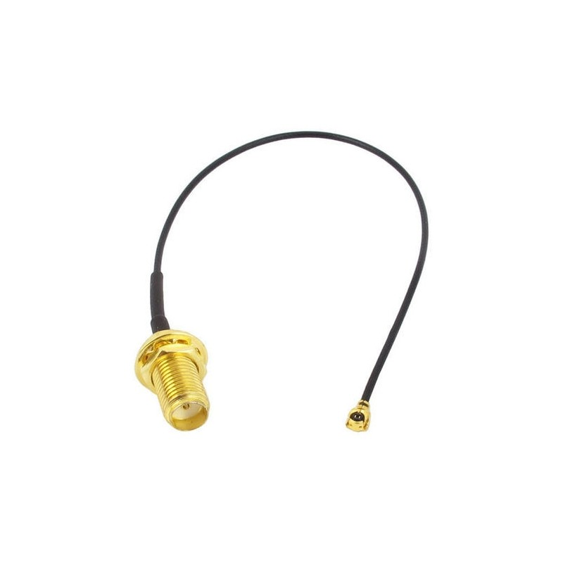 IPEX/U.FL to SMA Female Pigtail Cable (4G/LTE) PCEngines - 1