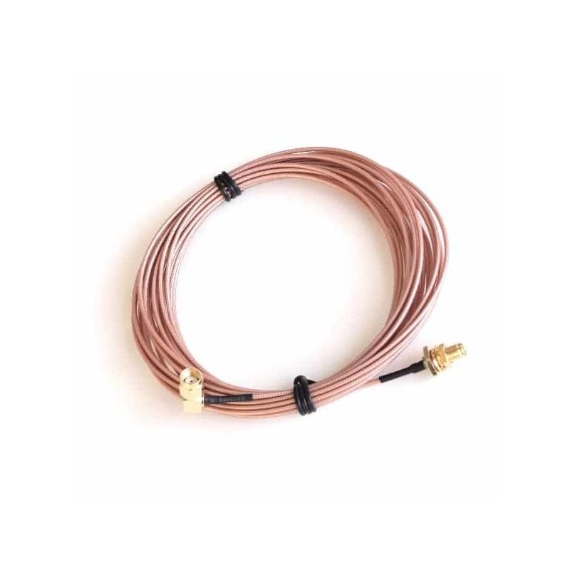 RPSMA Bulkhead to RPSMA Plug Jumper Cable 20FT